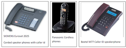 Cordless and corded phones